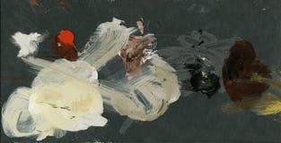 Fondo abstracto, pinturas de petróleo paleta del arte del acrílico, pinturas de aceite fondo escénico colorido abstracto stock de ilustración
