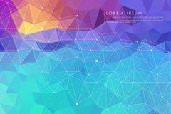 Fondo abstracto polivinílico bajo colorido Imagen de archivo libre de regalías