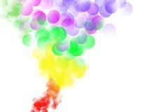 Fondo abstracto por completo de burbujas coloridas libre illustration