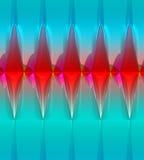 Fondo abstracto que brilla intensamente en rojo, blanco y azul Imagen de archivo