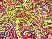 Fondo abstracto que consiste en diversas formas Vector ilustración del vector