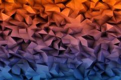 Fondo abstracto que consiste en los triángulos 3D Fotografía de archivo