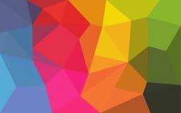 Fondo abstracto que consiste en triángulos Imagenes de archivo