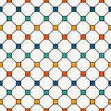 Fondo abstracto repetido de los cuadrados brillantes Modelo inconsútil minimalista con el ornamento geométrico Papel pintado Chec libre illustration