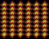 Fondo abstracto rojo amarillo de la forma Imagen de archivo libre de regalías