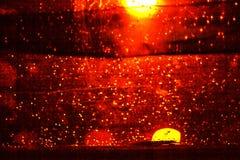 Fondo abstracto rojo con los puntos amarillos Imagen de archivo