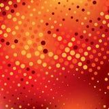 Fondo abstracto rojo con los puntos coloridos Imagen de archivo