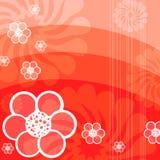 Fondo abstracto rojo de la flora Foto de archivo libre de regalías