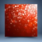 Fondo abstracto rojo de la Navidad Fotos de archivo