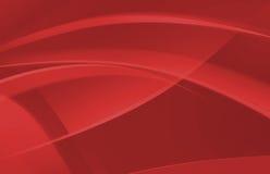 Fondo abstracto rojo de la onda Foto de archivo libre de regalías