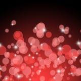 Fondo abstracto rojo de las luces de la Navidad Fotos de archivo