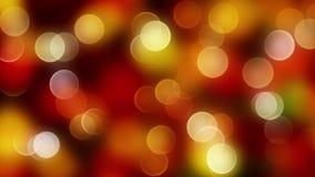 Fondo abstracto rojo del bokeh de la mezcla del oro con las luces defocused Imagenes de archivo