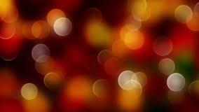 Fondo abstracto rojo del bokeh de la mezcla del oro con las luces defocused 4K almacen de video
