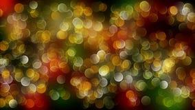Fondo abstracto rojo del bokeh de la mezcla del oro con las luces defocused 4K metrajes
