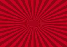 Fondo abstracto rojo del starburst stock de ilustración