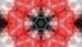 Fondo abstracto rojo florecido coloreado del caleidoscopio Fotografía de archivo libre de regalías