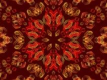 Fondo abstracto rojo, formas del caleidoscopio Foto de archivo