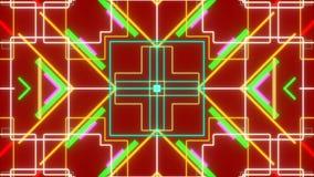 Fondo abstracto rojo, lazo ilustración del vector