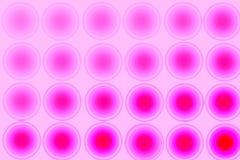 Fondo abstracto rosado, círculos, pendiente stock de ilustración