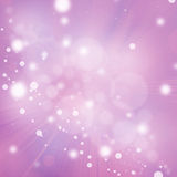 Fondo abstracto rosado con los copos de nieve blancos Foto de archivo libre de regalías