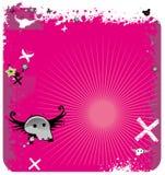 Fondo abstracto rosado del emo. Foto de archivo