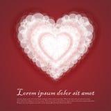 Fondo abstracto suavemente rojo de la tarjeta del día de San Valentín del corazón Fotografía de archivo libre de regalías