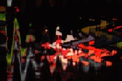 Fondo abstracto a todo color de la interferencia de la textura Fotos de archivo