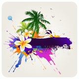 Fondo abstracto tropical ilustración del vector