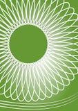 Fondo abstracto verde con adorno geométrico simétrico de la estrella Imagen de archivo libre de regalías