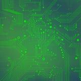 Fondo abstracto verde de tecnologías digitales  Fotografía de archivo libre de regalías