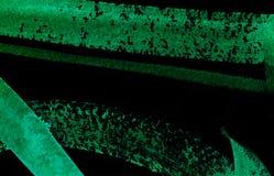 Fondo abstracto verde y negro de la acuarela Imagenes de archivo