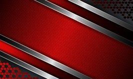 Fondo acanalado rojo oscuro abstracto geométrico Fotos de archivo
