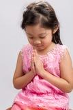 Fondo accogliente di Sawasdee del bambino tailandese/bambino tailandese Sawasdee accogliente/bambino tailandese Sawasdee accoglie Fotografie Stock