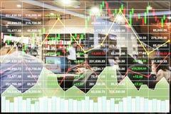 Fondo acertado de la inversión de la demostración financiera común del índice imagen de archivo