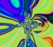 Fondo acido astratto dell'arcobaleno Stampa della tela immagine stock