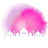 Fondo acquerello del Ramadan Fotografia Stock