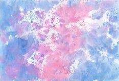 Fondo acquerello della pittura, illustrazione luminosa sveglia per Sc Immagini Stock Libere da Diritti