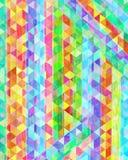 Fondo acquerello e digitale luminoso astratto della pittura Immagine Stock