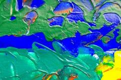 Fondo acrilico dipinto a mano astratto di colore Fotografie Stock Libere da Diritti