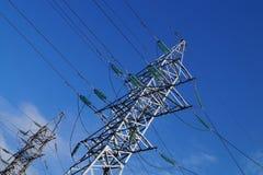 Fondo ad alta tensione di industriale della torre Fotografia Stock Libera da Diritti
