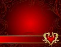 Fondo adornado con dimensión de una variable del corazón stock de ilustración
