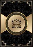Fondo adornado con la escritura de la etiqueta enmarcada lujo de oro libre illustration