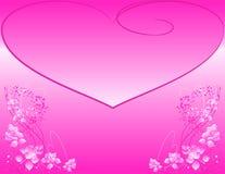 Fondo adornado con las rosas y las dimensiones de una variable del corazón. Imágenes de archivo libres de regalías