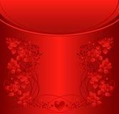 Fondo adornado con las rosas y las dimensiones de una variable del corazón. Fotos de archivo libres de regalías