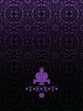 Fondo adornado de lujo de la vendimia púrpura oscura Imagen de archivo libre de regalías