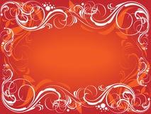 Fondo adornado rojo ilustración del vector