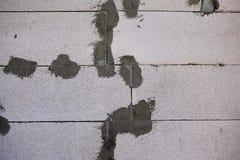 fondo aerato della parete del blocco in calcestruzzo Immagini Stock
