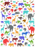 Fondo africano colorido inconsútil de los animales Imagen de archivo