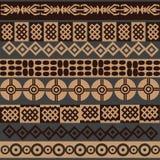 Fondo africano de los símbolos Fotos de archivo