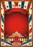 Fondo agradable del circo de la vendimia con la tapa grande Foto de archivo libre de regalías